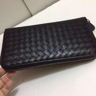 Authentic Bottega Veneta long zip wallet