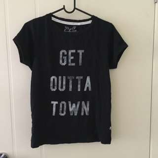 """Get Outta Town"" Graphic Black Tee"