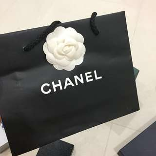 Chanel Paper Bag with a Camellia flower