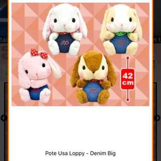Toreba pote usa Loppy denim big plush