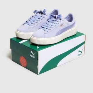 Puma Suede Satin Platform Sneakers - Size 36 - Brand new in box