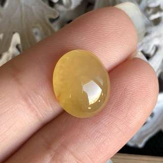 Icy A-Grade Type A Natural Russet Jadeite Jade Oval Cabochon Piece No.130016
