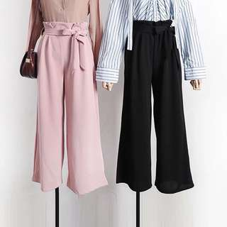 Navy Blue Culottes Pants