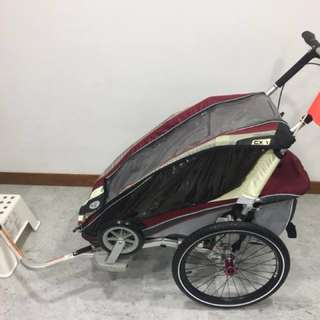 Thule Chariot CX 1 bicycle trailer with Jogging & Stroller Kit