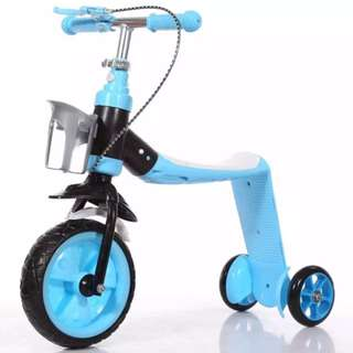 2 in 1 kids scooter