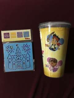Disney cup and stencil