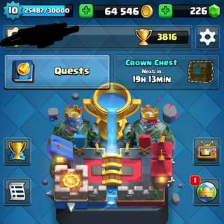 Clash royal account