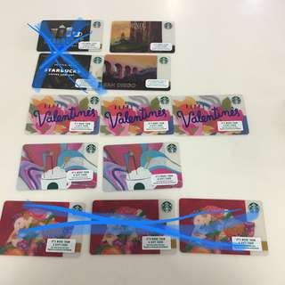 (price reduced) Starbucks Cards from California USA