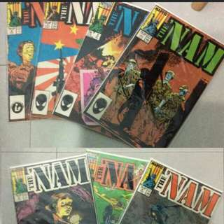 Nam marvel 7 issues comic set