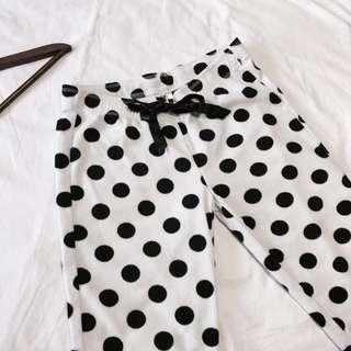 H&M Polka Dot Plush PJ Pants