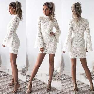 INSTOCK Lace Bodycon Midi Dress
