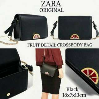 Original zara fruit detail crossbody bag