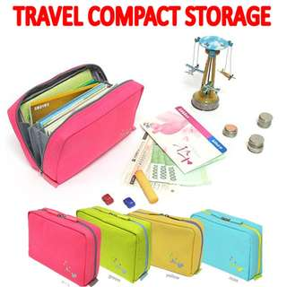 TST020 Travel Compact Cosmetic Coins Passport Storage Bag
