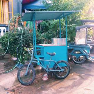 RERICED Food Cart with Bicycle