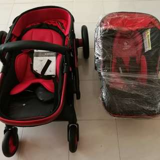 stroller and carrier/car seat baby