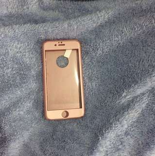 Case iphone 6 360 rosegold new