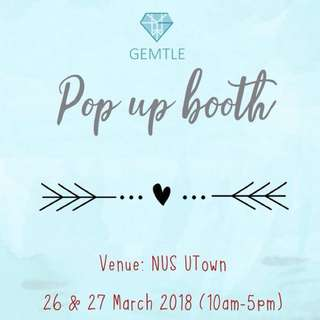 Pop up accessories booth Gemtle