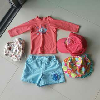 PL Swimming wear for baby 6 to 18 m old