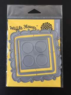 Waffle Flower Doily Square Die Cuts