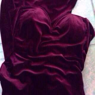 dark red long gown for rent