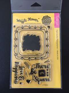 Waffle Flower Doily Square Clear Stamps