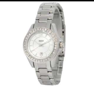 Brand New In Box Authentic Fossil Ladies Silver Watch