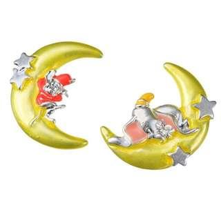 ♥️冇估到會減價!🇯🇵日本代購 迪士尼 Disney 小飛象 Dumbo 月亮 耳環
