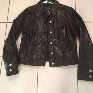 New Price-Banana Republic Leather Jacket