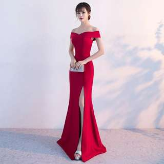 Portia evening gown with slit