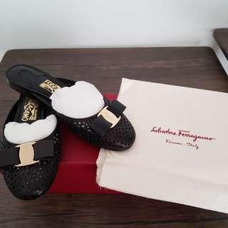 Salvatore Ferragamo Leather Mules