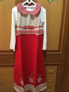 #MakinTebel New Gamis merah