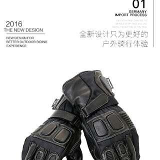 NERVE摩托车骑行手套防水保温抗风摩托手套摩旅赛车专用防护手套 码数有M,L,XL,2XL