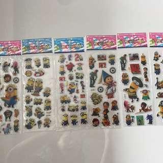 Stickers (minions) - 3D