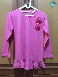 #MakinTebel Kaos pink flower long