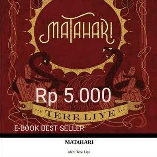 "Novel Terlaris ""MATAHARI"" - TERE LIYE. 231 Halaman"