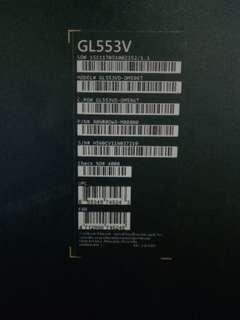 rog gl553 for gaming
