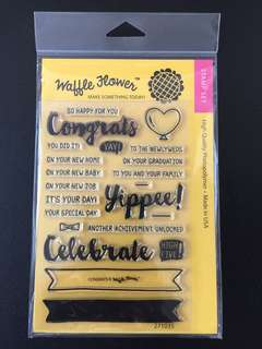 Waffle Flower Congrats Clear Stamps