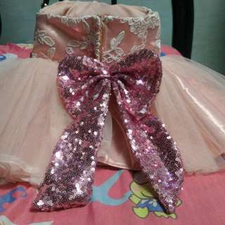 Baptismal Tutu Dress Backless
