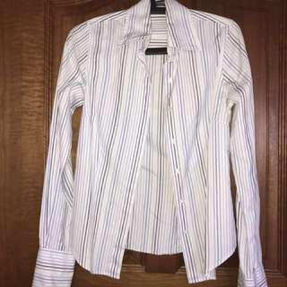 TM Lewin - Striped long sleeve office shirt