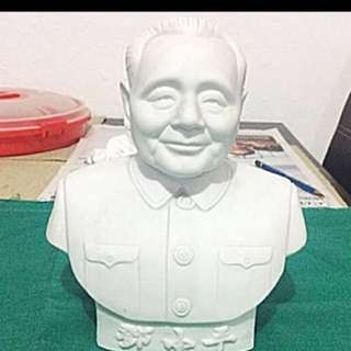 WHITE PORCELAIN FIGURINE ( Deng Xiao Ping )