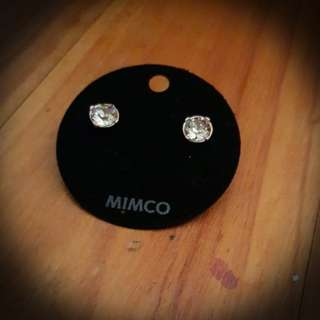 Mimco rosegold diamond earrings