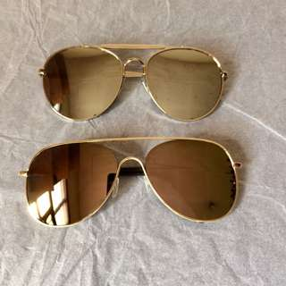 {BUNDLE} Unisex Mirrored Flash Lens Sunglasses Sunnies Shades Summer