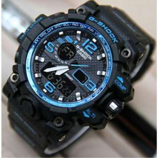 Jam tangan Pria G-SHOCK Dual Time Black/Blue/Red