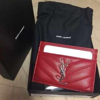 Ysl card holder 全新超靚 店賣緊2150