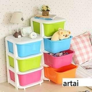 彩色櫃($268包送貨) 兒童玩具櫃收納櫃鞋櫃廚櫃雜物櫃儲物櫃組合櫃衣櫃書架書櫃