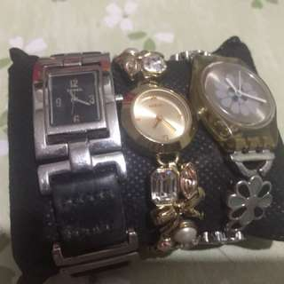 Fossil, Guess and Swatch authentic watches!