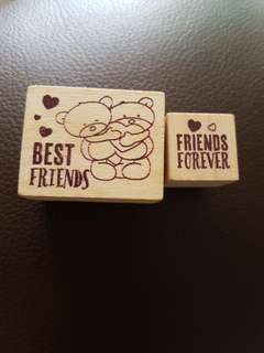 [Juniorcloset] FREE POSTAGE 🆕 Authentic Forever friends rubber stamp set (From UK)