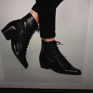 Brand new asos black lace up boots/booties