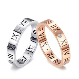 SCPR-014 • Roman Match Wedding Love Band Rings• FIXED SIZE