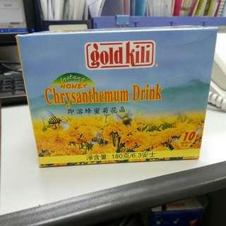 星加坡Goldkili 即溶蜂蜜菊花晶